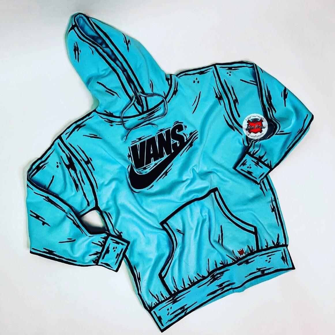 VANS/NIKE Cartoon Hooded Sweater