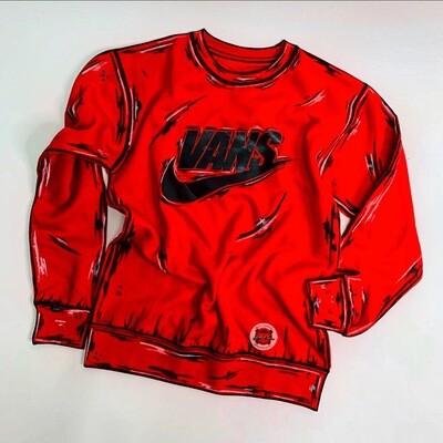 VANS/NIKE Cartoon Crew Neck Sweaters