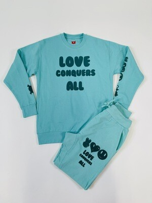 Celadon & Green Love Conquers All Jogger Sweatsuit