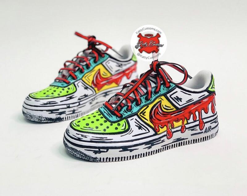 Cartoon Nike Drip AF1 Low