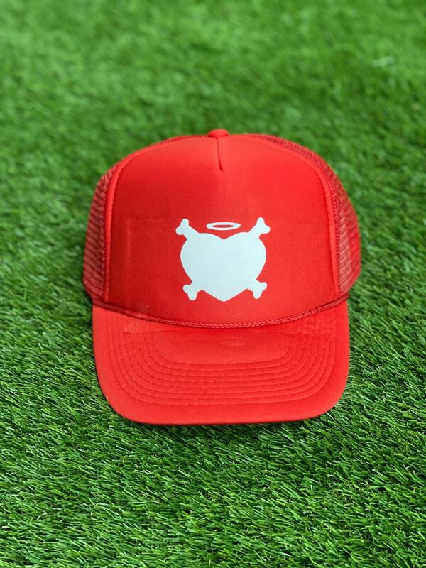 Red Katty Lenoir Logo Trucker Hat