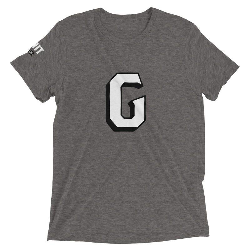 GRIT G Unisex Tri-Blend Tee (White & Black G)