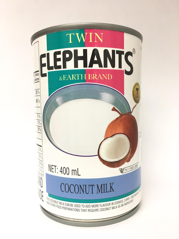 TWIN ELEPHANTS COCONUT MILK 24X400ML