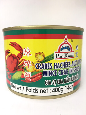 PORKWAN MINCE CRAB IN SPICES 24X400G