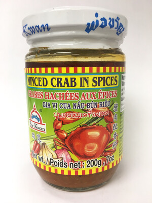 PORKWAN BOTTLE MINCE CRAB IN SPICES 24X200G