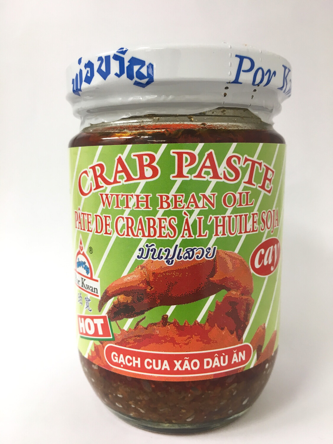 PORKWAN HOT CRAB PASTE WITH BEAN OIL 24X200G