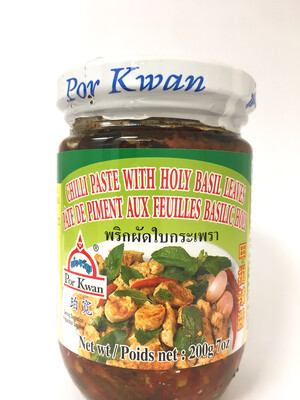 PORKWAN CHILI PASTE WITH HOLY BASIL LEAVES 24X225G