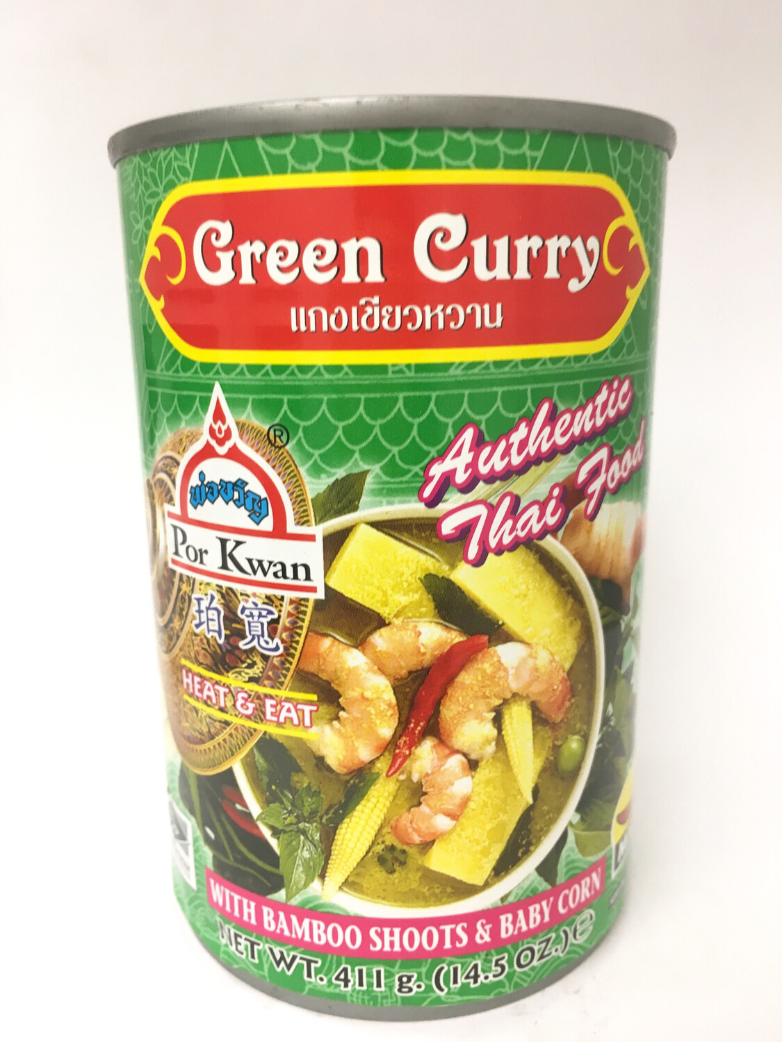 PORKWAN GREEN CURRY 24X411G