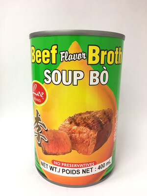 LEE BEEF FLAVOUR BROTH 24X400G