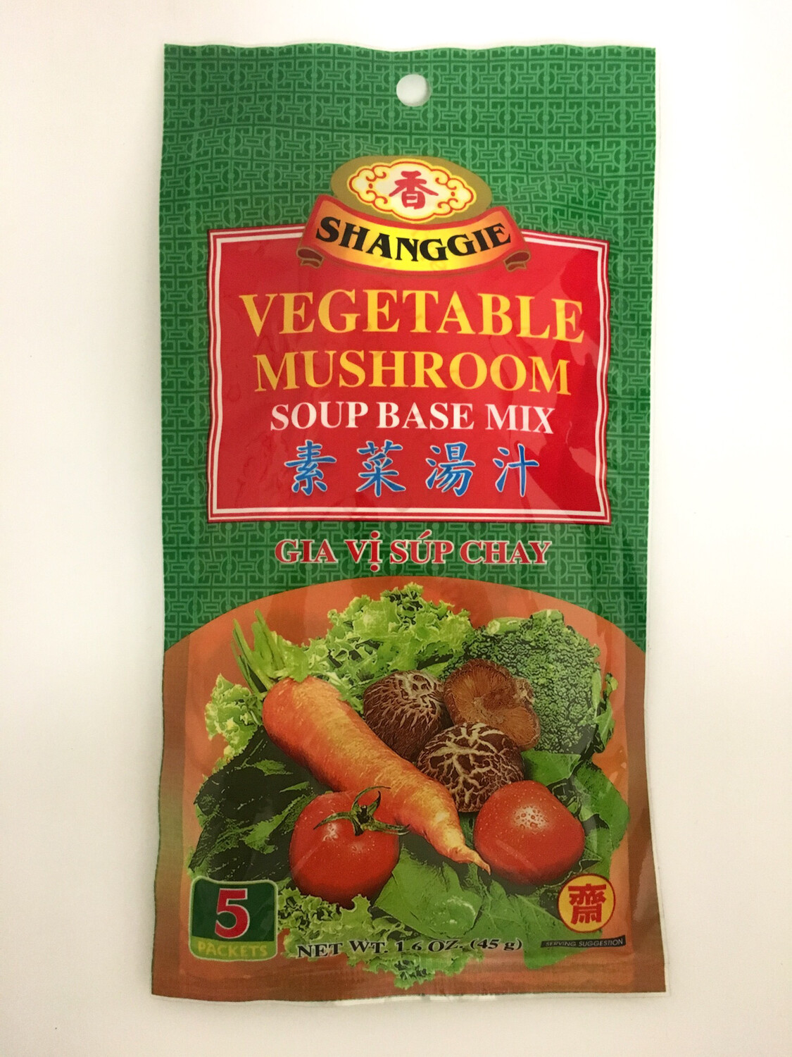 SHANGGIE VEGTABLE MUSHROOM SOUP BASE MIX 48X45G