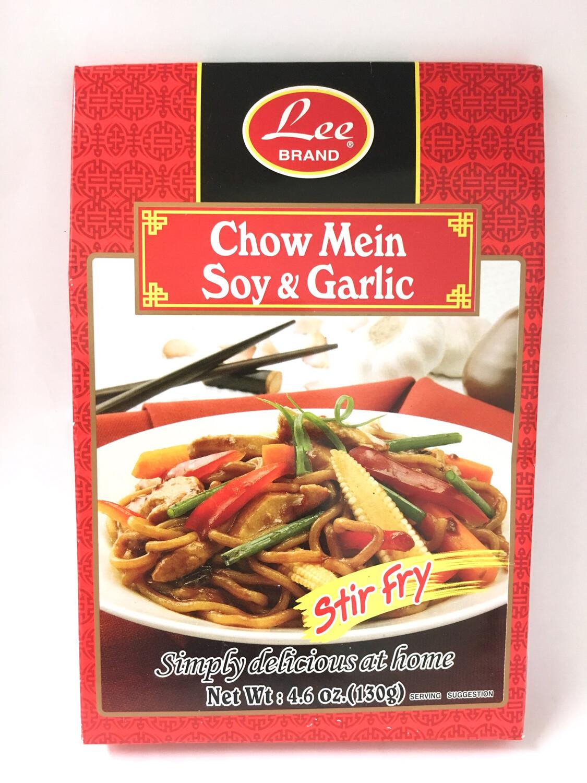 LEE CHOW MEIN SOY & GARLIC 12X130G