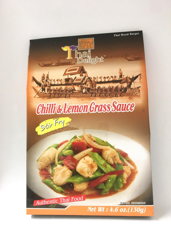 THAI DELIGHT CHILLI & LEMON GRASS SAUCE 24X130G