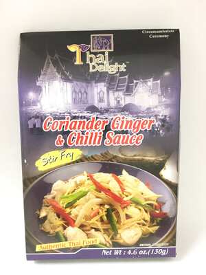 THAI DELIGHT CORIANDER GINGER AND CHILI SAUCE 24X130G