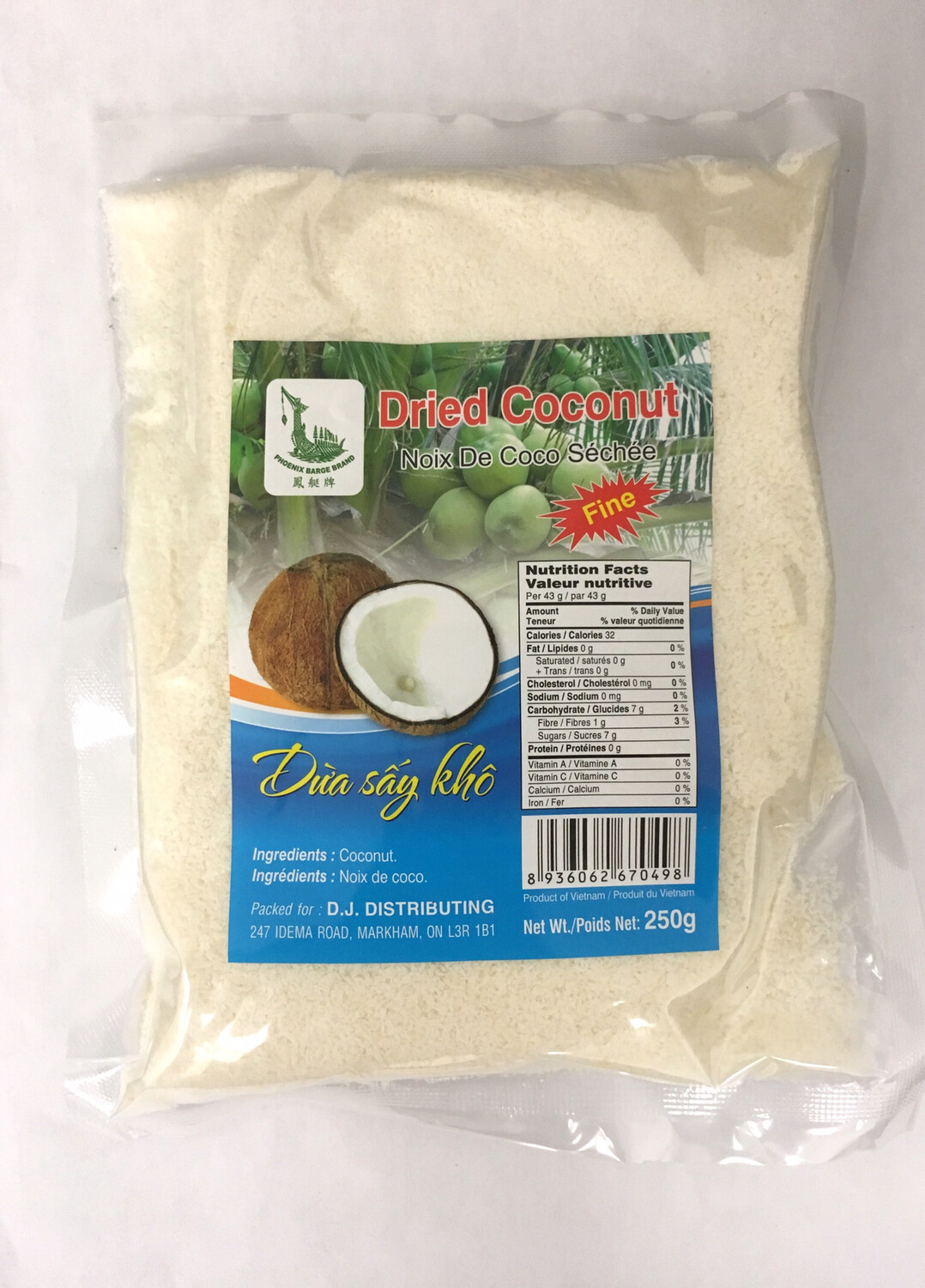 PHOENIX DRIED COCONUT 24X250G