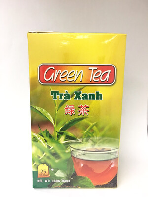 GREEN TEA BAG 24BOXES X 25BAGS X 2G