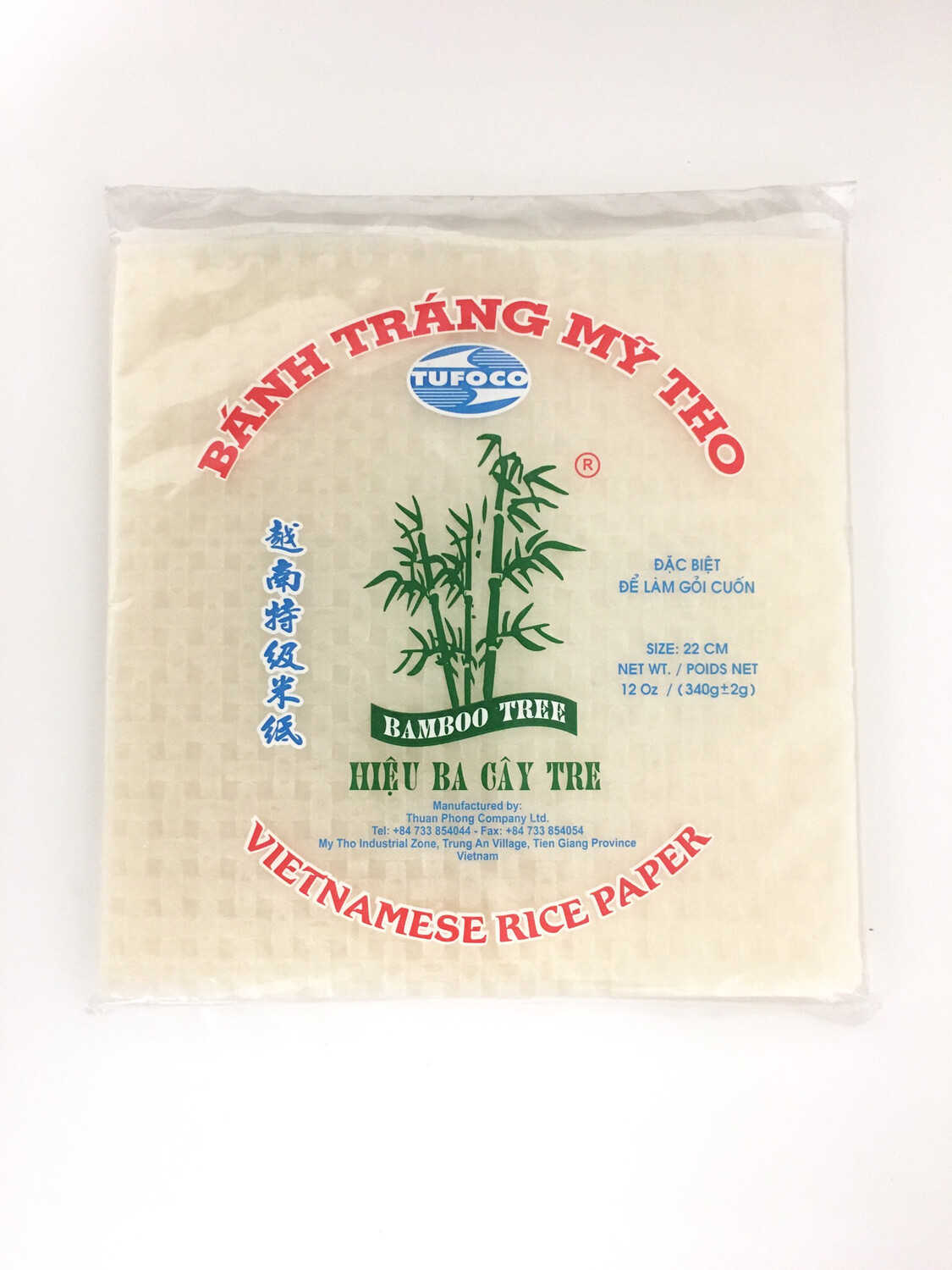 3CAY TREE RICE PAPER (SQUARE) 44X340G