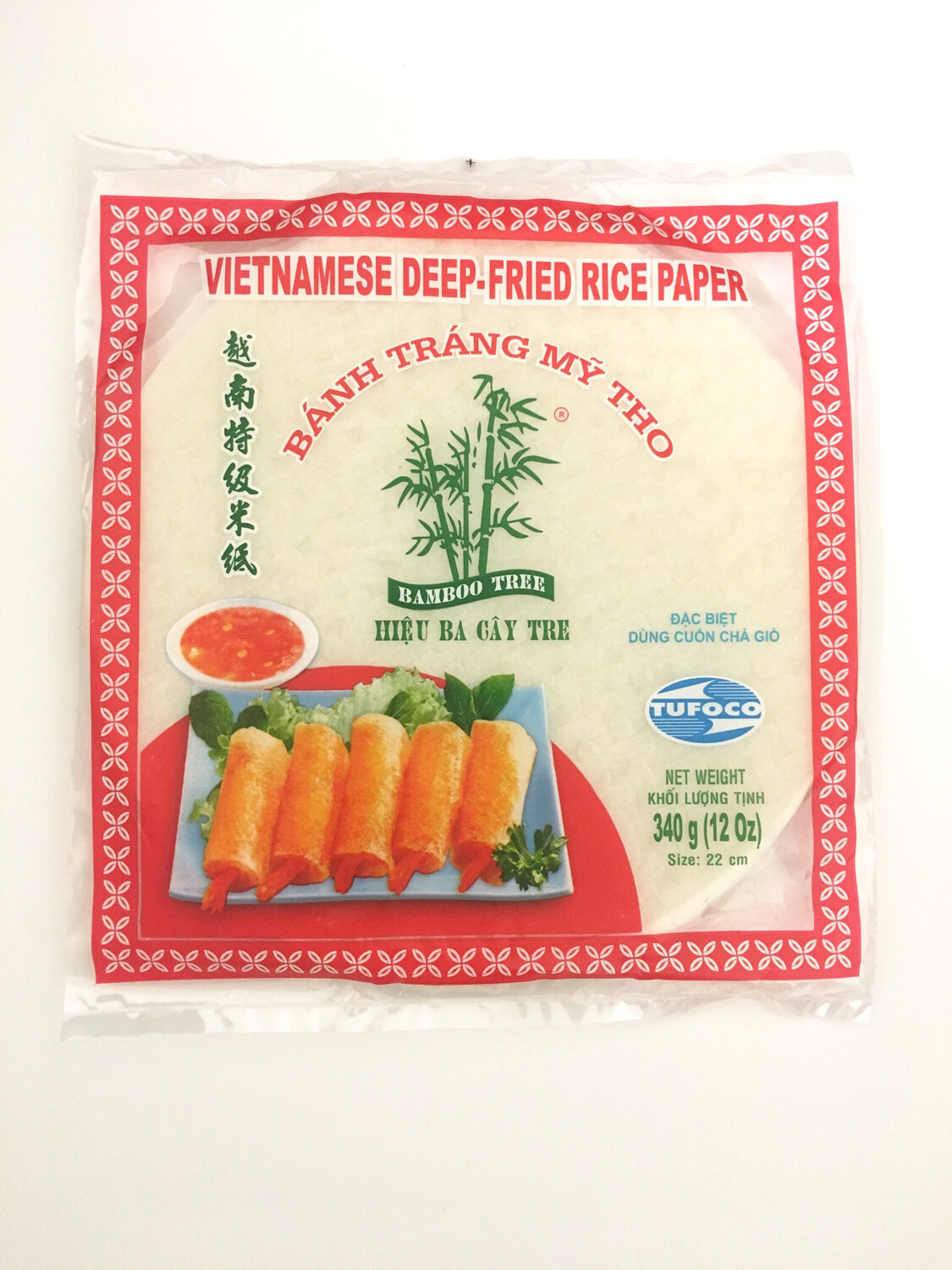 3 CAYTRE RICE PAPER ROUND 22CM FOR SPRING ROLL 44X340G