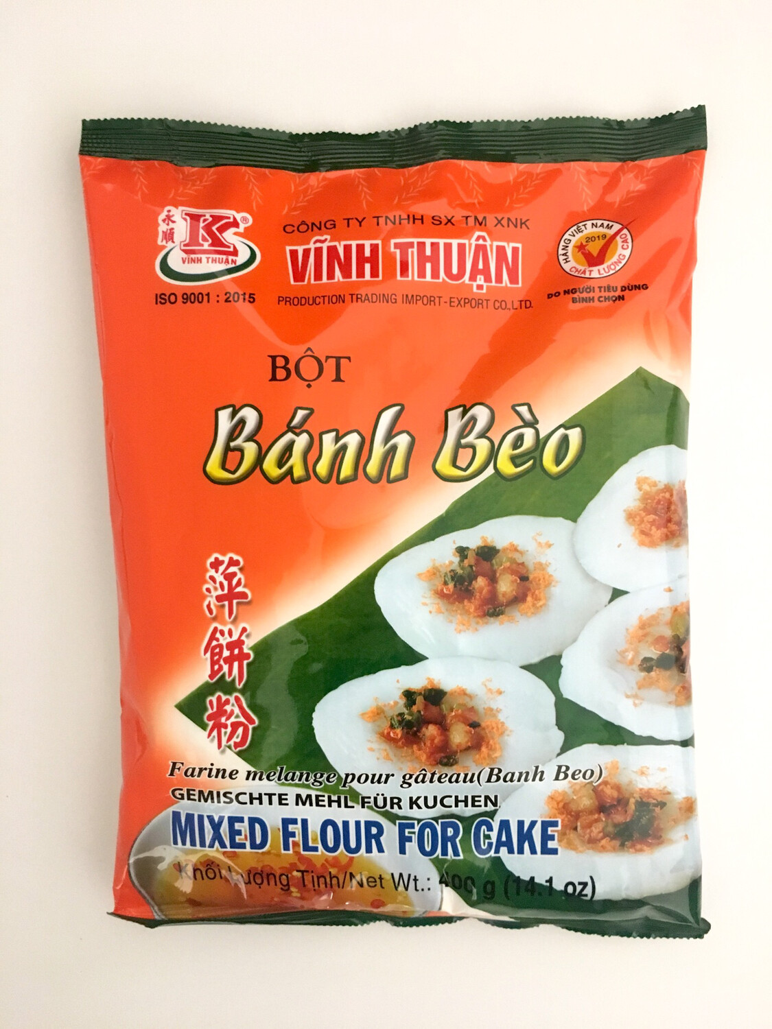VINH THUAN BANH BEO (MIXED FLOUR FOR CAKE) 20X400G