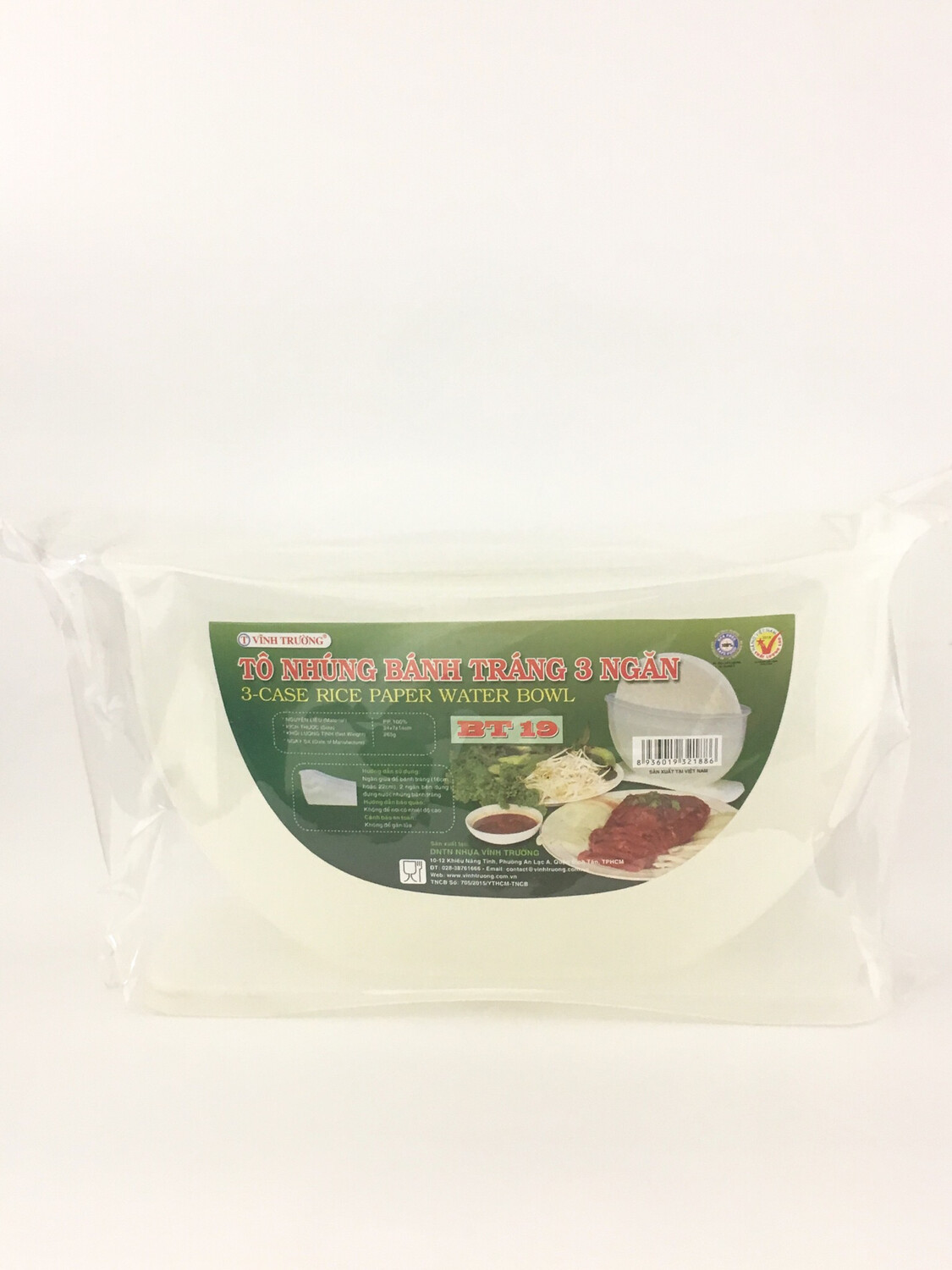 RICE PAPER BOWL BT19 20PCS