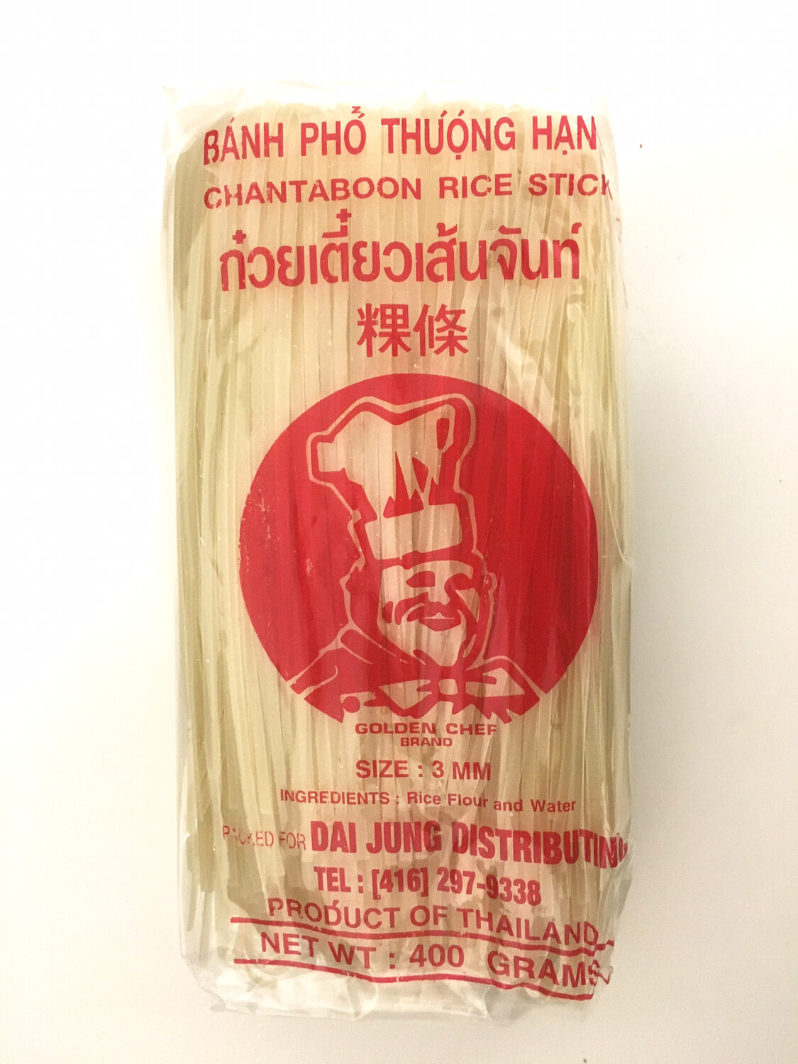 GOLDEN CHEF 3MM RICE STICK 34X400G