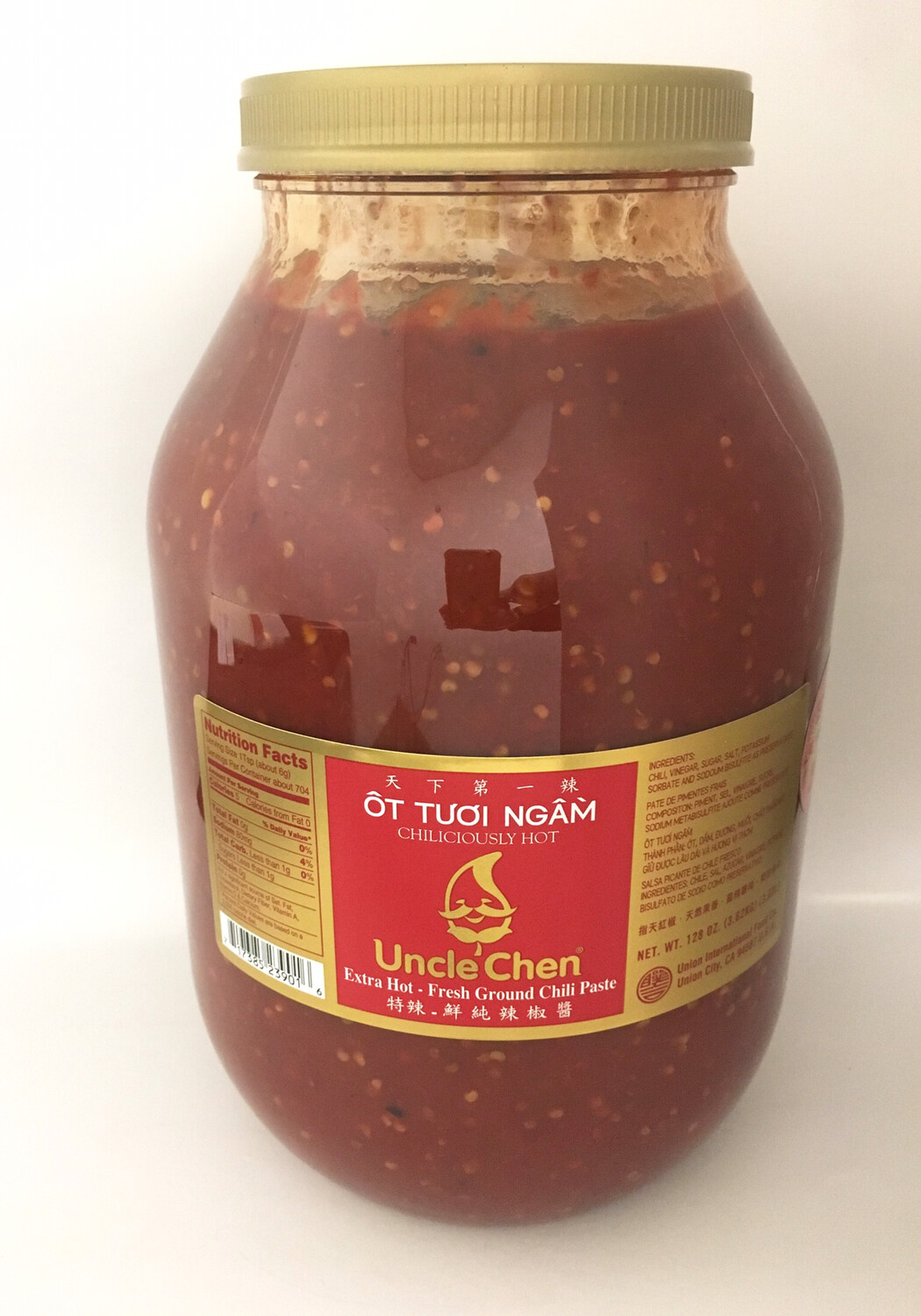 UNCLE CHEN EXTRA HOT FRESH GROUND CHILI PASTE 4X128OZ