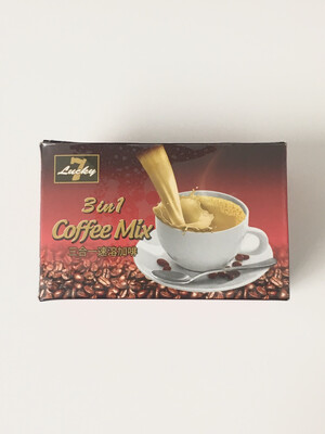 LUCKY 7 3 IN 1 INSTANT COFFEE (BOX) 24X18X16G