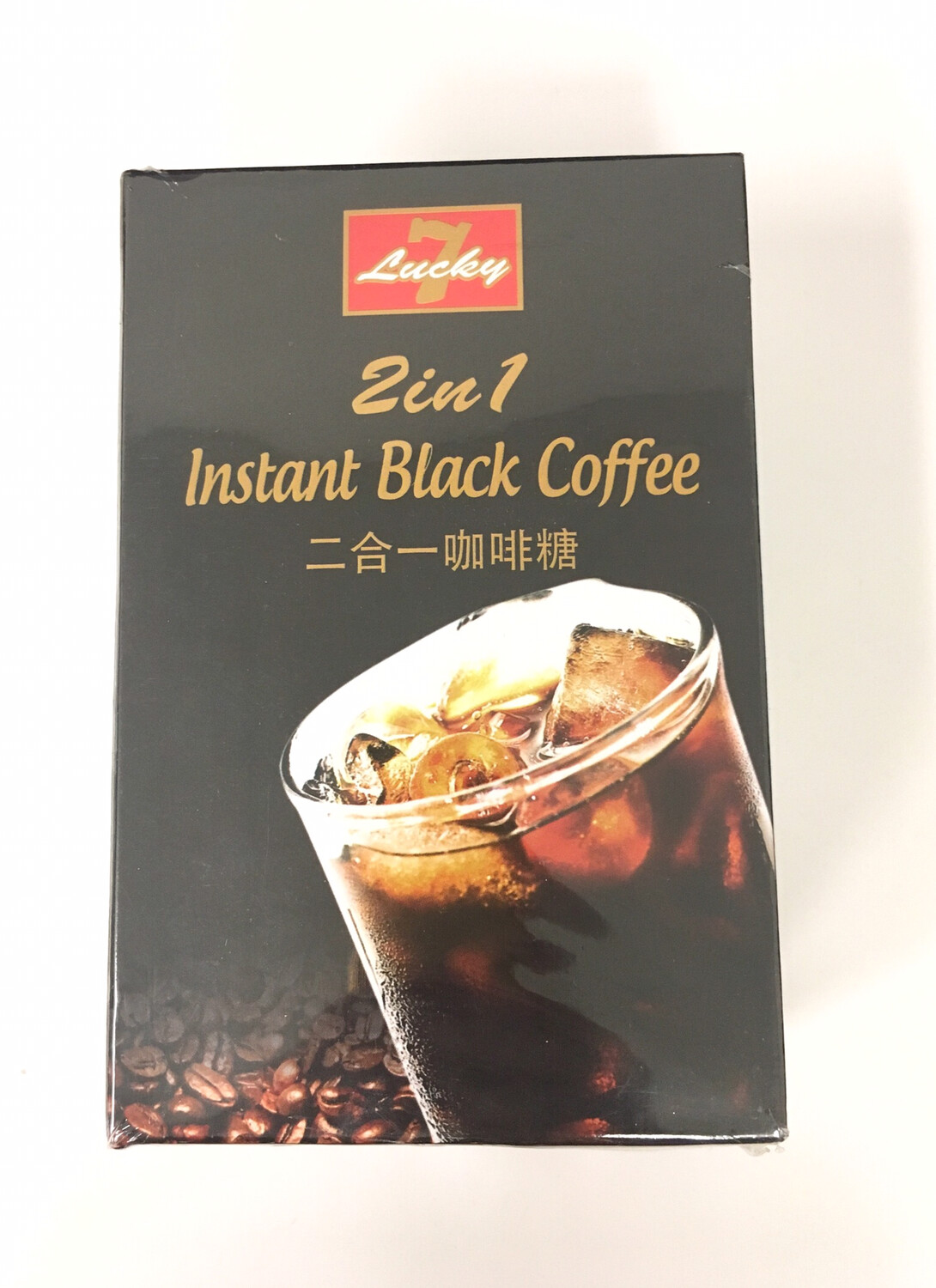 LUCKY 7 2 IN 1 INSTANT BLACK COFFEE 24 X 288G