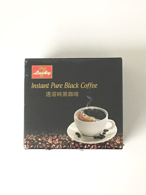 LUCKY 7 PURE BLACK COFFEE 24X30G