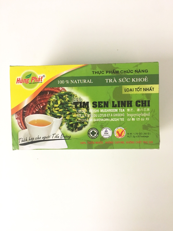 HUNG PHAT LOTUS - REISHI MUSHROOM TEA 25BAGX2G