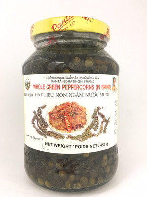 PANTAI WHOLE GREEN PEPPERCORNS (IN BRINE) 24X454G