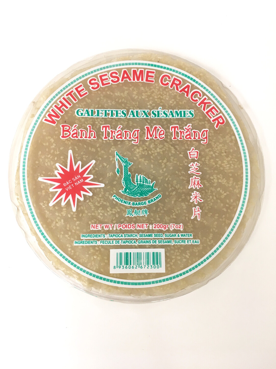 PHOENIX WHITE SESAME CRACKER 24X200G