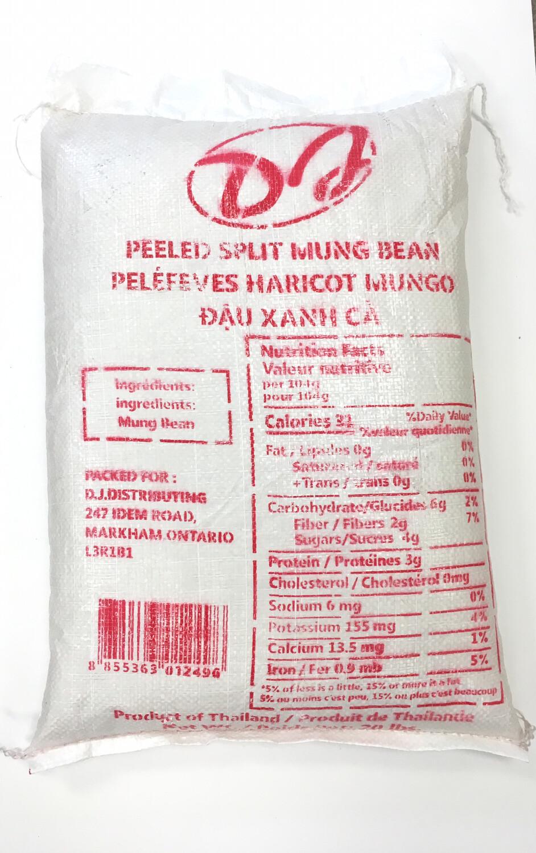 DJ PEELED SPLIT MUNG BEAN 20LB