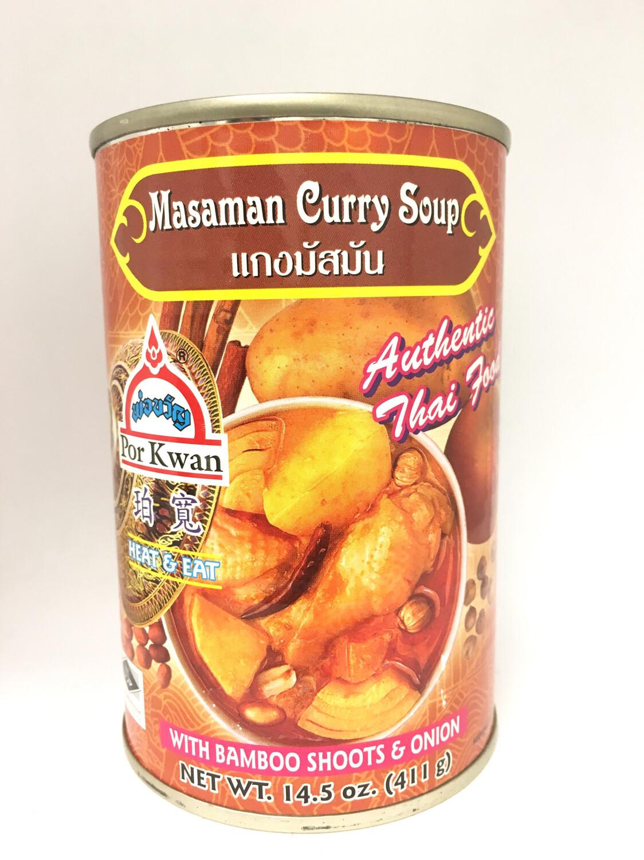 PORKWAN MASAMAN CURRY SOUP 12X411G
