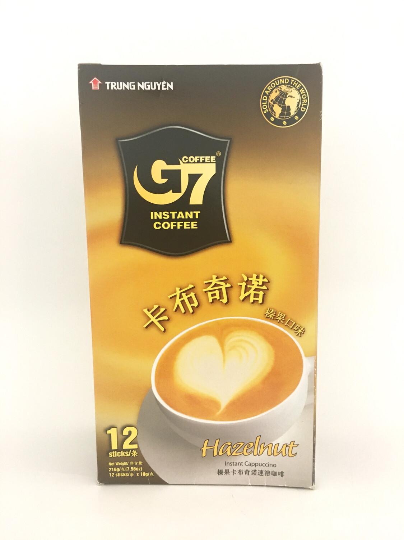 TRUNG NGUYEN G7 CAPPUCCINO - HAZELNUT 24X216G