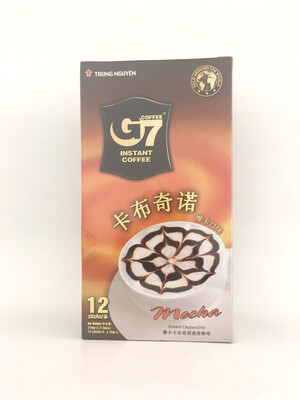 TRUNG NGUYEN G7 INSTANT COFFEE CAPPUCCINO - MOCHA 24X216G