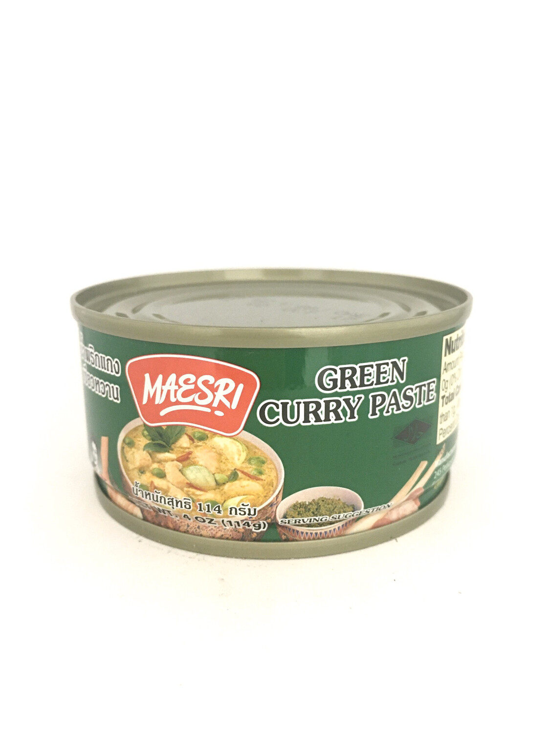 MAESRI GREEN CURRY PASTE 48X114G