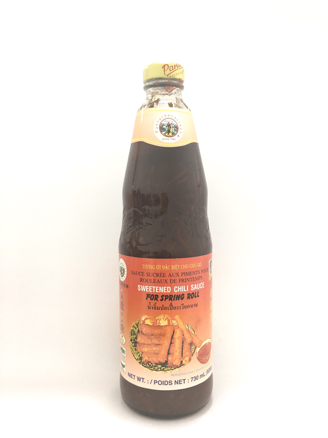 PANTAI SWEETENED CHILI SAUCE FOR SPRING ROLL 12X24OZ