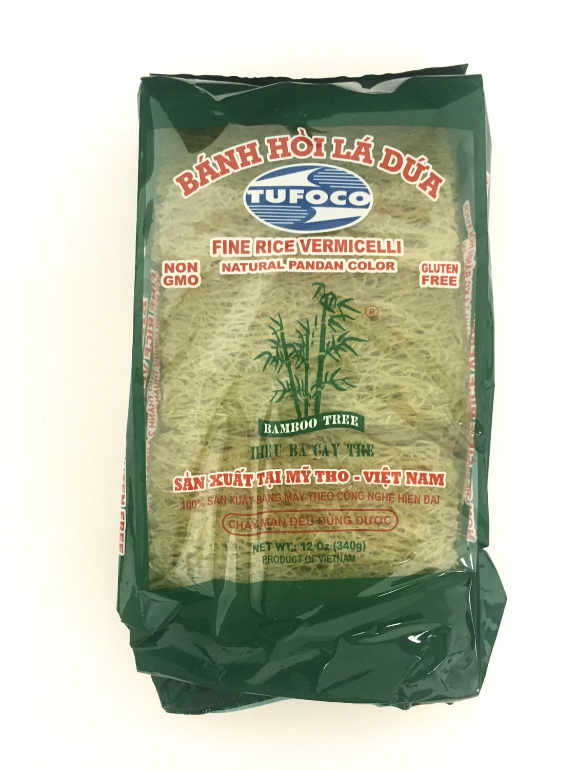 TUFOCO FINE RICE VERMICELLI NATURAL PANDAN COLOR 40X340G