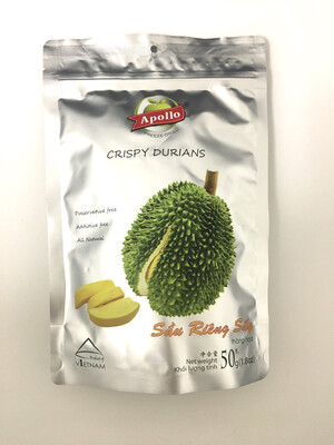APOLLO DRIED CRISPY DURIAN 40X50G