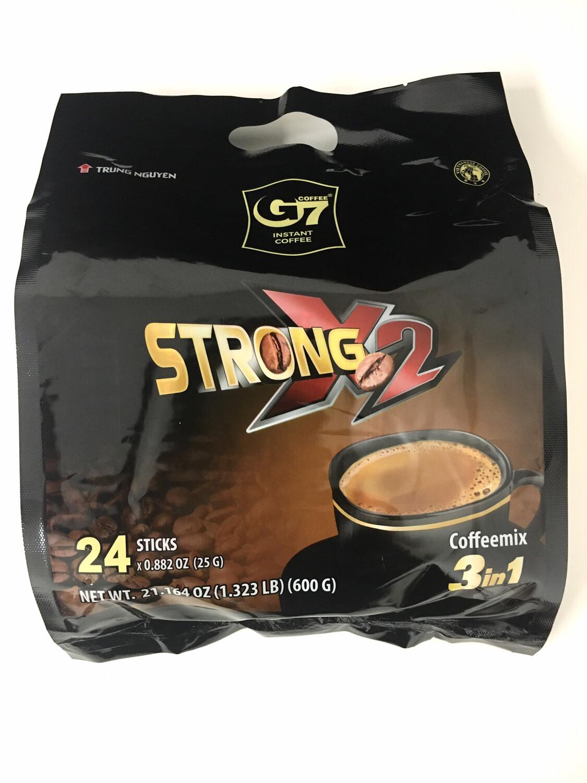 TRUNG NGUYEN G7 X2 3IN1 COFFEE 24 STICKS 24X24X25G