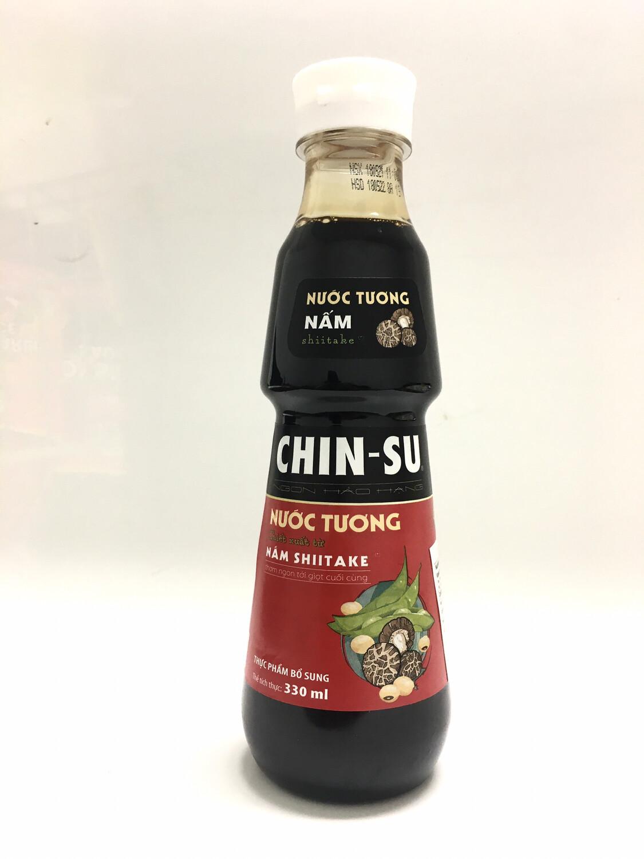 CHIN-SU SOY SAUCE WITH NAM SHIITAKE 24x330ML