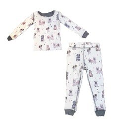 PJ Salvage Pawfection Ivory Children's Pajama Set - Mother/Daughter - Size 5 and 6
