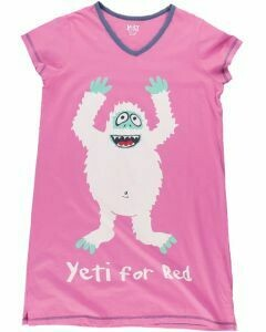 Pink Yeti For Bed Sleep Shirt Size L/XL
