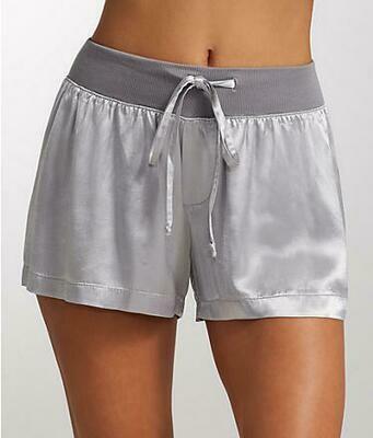 PJ Harlow Blush or Grey Satin Pajama Short - size L and XL