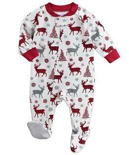Saras Prints Super Soft Holiday Pajama Onesie Size 6M