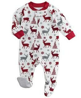 Saras Prints Super Soft Holiday Pajama Onesie Size 6M