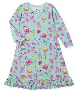 Saras Prints Super Soft Pajama Slumber Party Nightgown   Size 2,3,5,12,14