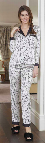 Women's Animal Spot Luxe Long Sleeve Pajama Set