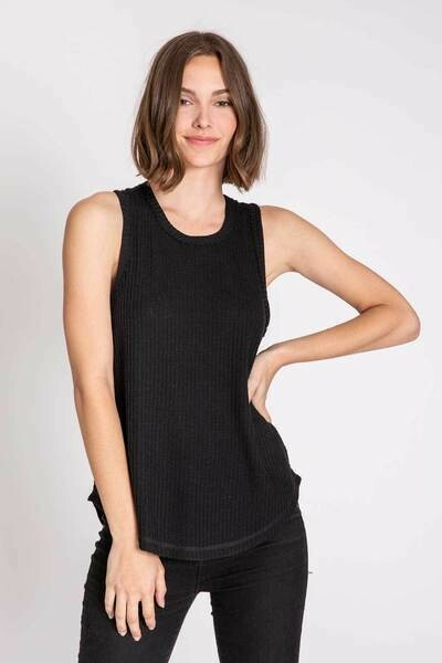 PJ Salvage Black Tank Thermal Shirt - see colors