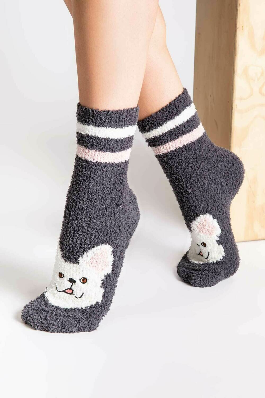 PJ Salvage Pink Weekend Love Nonskid Socks